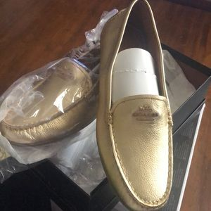 NWT Gold Coach Loafer
